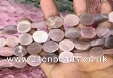 CMS1468 15.5 inches 12*16mm oval matte moonstone beads wholesale