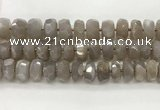 CMS1662 15.5 inches 6*13mm - 8*14mm faceted tyre moonstone beads