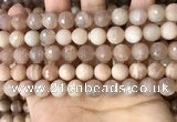 CMS1680 15.5 inches 10mm faceted round moonstone beads wholesale