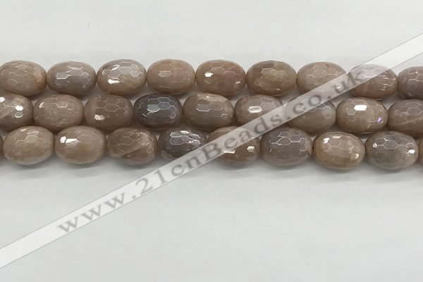 CMS1778 15.5 inches 13*18mm faceted drum AB-color moonstone beads