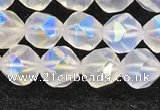 CMS1871 15.5 inches 6mm faceted nuggets AB-color white moonstone beads
