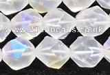 CMS1872 15.5 inches 8mm faceted nuggets AB-color white moonstone beads