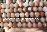 CMS1893 15.5 inches 10mm faceted round rainbow moonstone beads