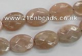 CMS35 15.5 inches 12*16mm faceted oval moonstone gemstone beads