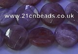 CMS591 15.5 inches 15mm faceted coin moonstone gemstone beads
