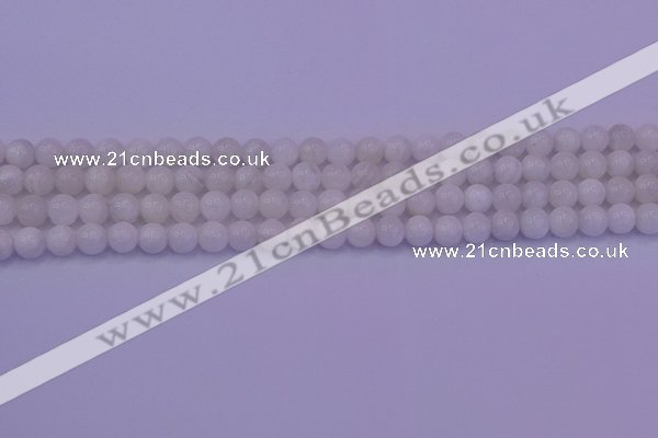 CMS641 15.5 inches 6mm round white moonstone beads wholesale
