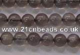 CMS858 15.5 inches 6mm round A grade natural black moonstone beads