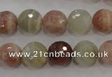 CMS872 15.5 inches 10mm faceted round moonstone gemstone beads
