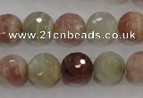 CMS873 15.5 inches 12mm faceted round moonstone gemstone beads