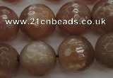 CMS944 15.5 inches 12mm faceted round A grade moonstone gemstone beads