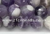 CNA1162 15.5 inches 8mm faceted round natural dogtooth amethyst beads