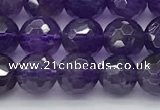 CNA1175 15.5 inches 6mm faceted round natural amethyst beads
