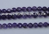 CNA251 15.5 inches 6mm faceted round natural amethyst beads