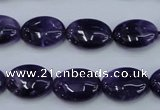 CNA275 15.5 inches 12*16mm oval natural amethyst beads wholesale