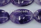 CNA277 15.5 inches 20*30mm oval natural amethyst beads wholesale