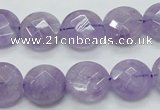 CNA323 15.5 inches 14mm faceted coin natural lavender amethyst beads