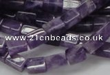 CNA35 15.5 inches 6*10mm cuboid grade AB natural amethyst beads