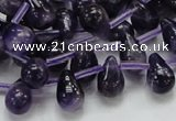 CNA37 15.5 inches 8*12mm teardrop grade A natural amethyst beads