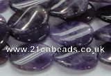 CNA43 15.5 inches 15*20mm twisted oval grade A natural amethyst beads