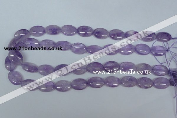 CNA446 15.5 inches 13*18mm oval natural lavender amethyst beads