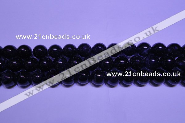 CNA562 15.5 inches 8mm round AA grade natural dark amethyst beads