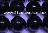 CNA572 15.5 inches 8mm round AAA grade natural dark amethyst beads