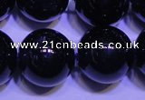 CNA575 15.5 inches 14mm round AAA grade natural dark amethyst beads