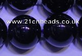 CNA576 15.5 inches 16mm round AAA grade natural dark amethyst beads