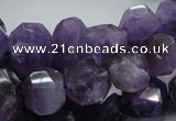 CNA64 15.5 inches 12*18mm freeform grade AB+ natural amethyst beads
