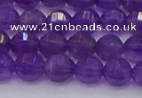 CNA751 15.5 inches 6mm faceted round natural amethyst beads