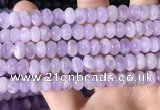 CNA781 15.5 inches 6*8mm rondelle lavender amethyst beads