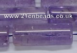 CNA817 15.5 inches 15*40mm tube natural light amethyst beads