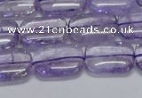 CNA850 15.5 inches 10*14mm rectangle natural light amethyst beads