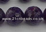 CNA919 15.5 inches 18mm faceted round natural amethyst beads