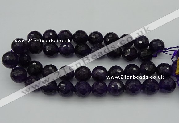 CNA920 15.5 inches 20mm faceted round natural amethyst beads