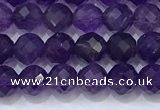 CNA990 15.5 inches 4mmm faceted round amethyst beads wholesale