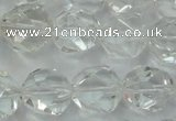 CNC104 15 inches 14mm faceted nuggets white crystal beads
