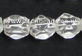 CNC16 13*18mm faceted nugget grade AB natural white crystal beads