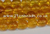 CNC400 15.5 inches 4mm round dyed natural white crystal beads