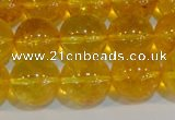 CNC405 15.5 inches 14mm round dyed natural white crystal beads