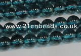 CNC420 15.5 inches 4mm round dyed natural white crystal beads
