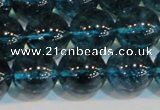 CNC425 15.5 inches 14mm round dyed natural white crystal beads