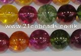 CNC454 15.5 inches 12mm round dyed natural white crystal beads