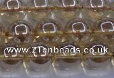 CNC504 15.5 inches 12mm round dyed natural white crystal beads