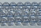 CNC509 15.5 inches 6mm round dyed natural white crystal beads