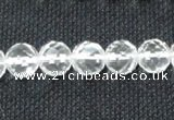 CNC53 15.5 inches 10mm faceted round grade A natural white crystal beads
