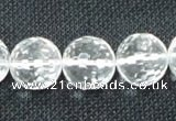 CNC56 15.5 inches 16mm faceted round grade A natural white crystal beads