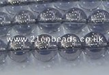 CNC595 15.5 inches 8mm round plated natural white crystal beads