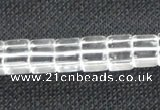 CNC60 15.5 inches 8*8mm cube grade A natural white crystal beads
