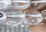 CNC727 15.5 inches 10*10mm heart white crystal beads wholesale